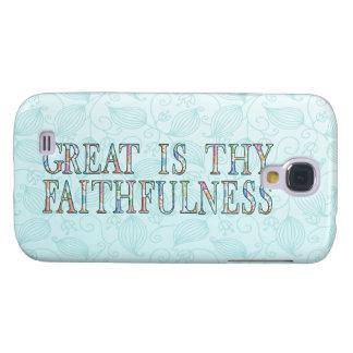 Great Is Thy Faithfulness Fancy Floral Alphabet Samsung Galaxy S4 Case