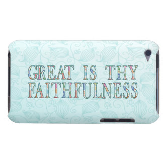 Great Is Thy Faithfulness Fancy Floral Alphabet iPod Touch Case-Mate Case