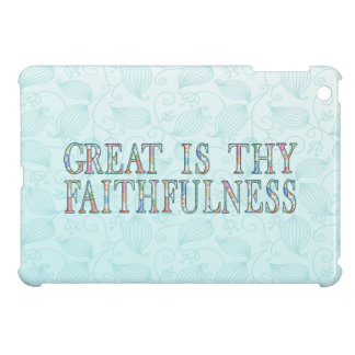 Great Is Thy Faithfulness Fancy Floral Alphabet Cover For The iPad Mini