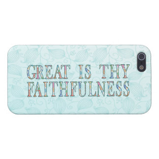 Great Is Thy Faithfulness Fancy Floral Alphabet iPhone 5 Covers