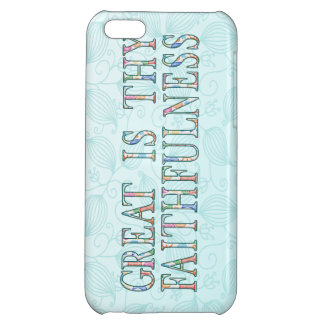 Great Is Thy Faithfulness Fancy Floral Alphabet iPhone 5C Cover
