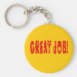 Great Job Basic Round Button Key Ring