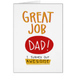 Great Job Dad Funny Fathers Day Card