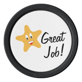 Great Job!  Gold Star Custom Poker Chips