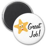 Great Job Gold Star Refrigerator Magnets