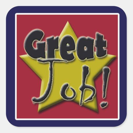 Great Job Star Stickers