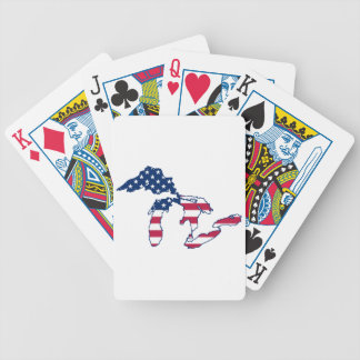 Great Lakes American Flag Bicycle Playing Cards