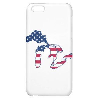Great Lakes American Flag iPhone 5C Cases