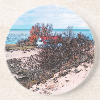 Great Lakes Beach House Coaster