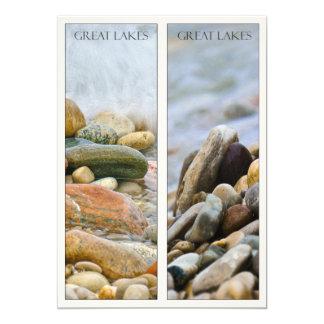 Great Lakes Beach Stones Nature Art Bookmark 13 Cm X 18 Cm Invitation Card
