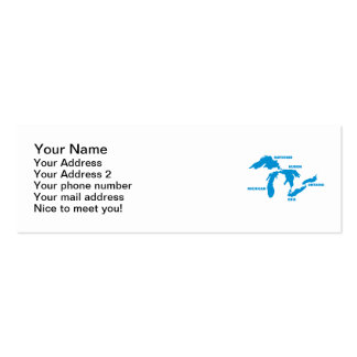 Great Lakes Pack Of Skinny Business Cards