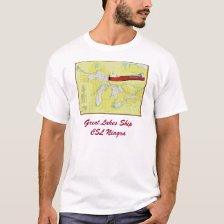 Great lakes Chart with CSL Niagra T-Shirt