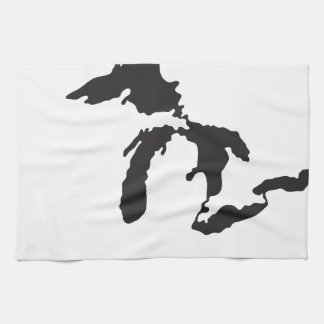 Great Lakes Custom Illustration Tea Towel
