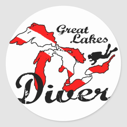 Great Lakes Diver Stickers