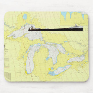 Great Lakes General Chart abd M/V American Spirit Mouse Pad