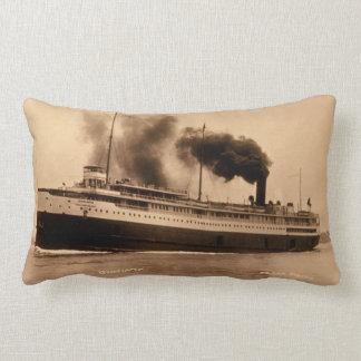 Great Lakes Passenger Liner Juniata Louis Pesha Pillow