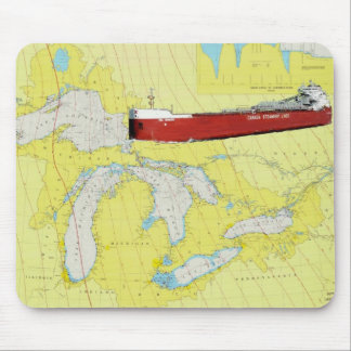 Great Lakes Ship CSL Niagra and Chart Mouse Pad