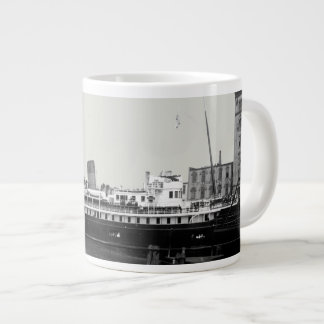 Great Lakes Ship Virginia @ Milwaukee 1890's Photo Large Coffee Mug