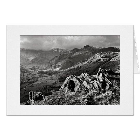 Great Langdale, The Lake District - Mono Card