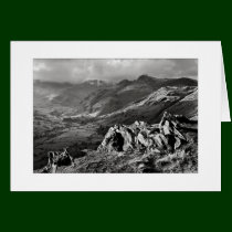 Great Langdale, The Lake District - Mono Greeting Card