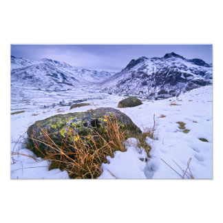 Great Langdale winter - The Lake District Photo Print