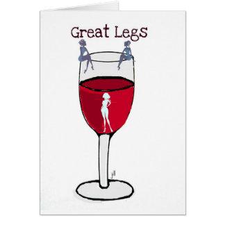 GREAT LEGS...wine print by jill Card