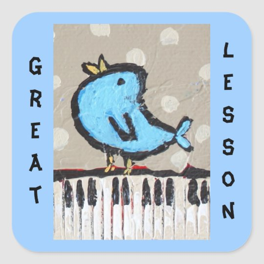 great lesson piano student sticker