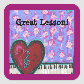 great lesson stickers with heart