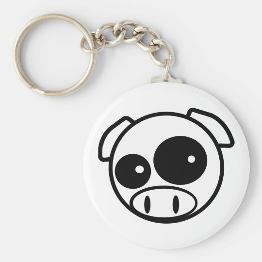 Great looking Subie Pig Basic Round Button Key Ring