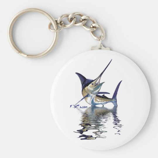 Great marlin with reflection in water key ring