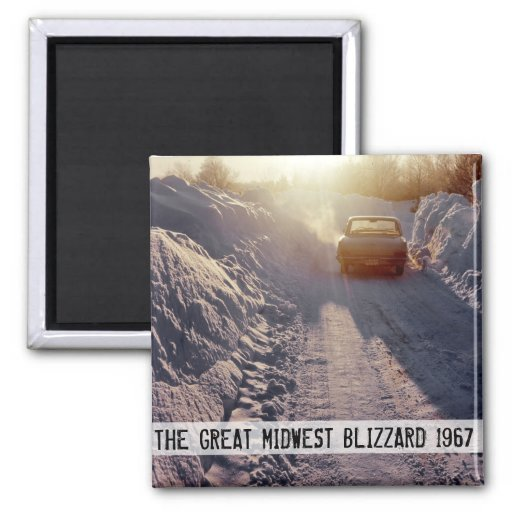 Great Midwest Blizzard of 1967 Refrigerator Magnet