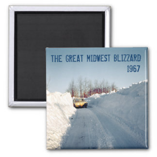 Great Midwest Blizzard of 1967 Square Magnet