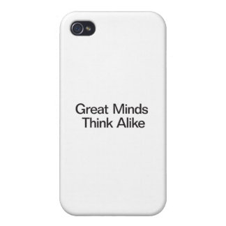 Great Minds Think Alike iPhone 4/4S Case