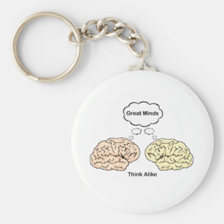 Great Minds Think Alike Key Ring