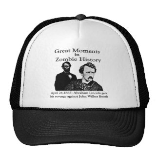 Great Moments in Zombie History Hats