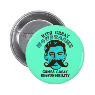 Great Moustache 6 Cm Round Badge