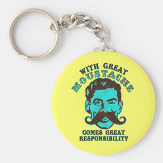 Great Moustache Key Ring