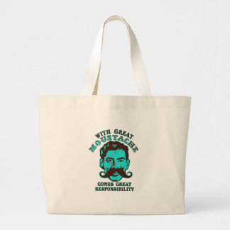 Great Moustache Large Tote Bag