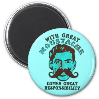 Great Moustache Refrigerator Magnet