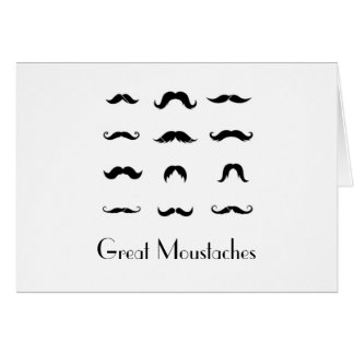 Great Moustaches Greeting Card