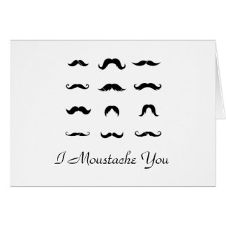 Great Moustaches Valentine's Day Card