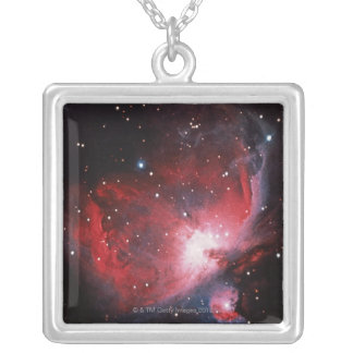 Great Nebula in Orion Silver Plated Necklace