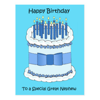 Great Nephew Happy Birthday Postcard