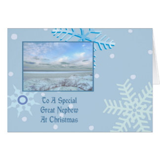 Great Nephew Winter Lake Christmas Greeting Card