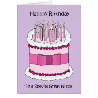 Great Niece Happy Birthday Card