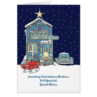 Great Niece Sending Christmas Wishes Card