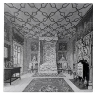 Great North Bed Chamber of Strawberry Hill (litho) Tile