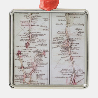 Great North Road out of London, 1st July 1790 Christmas Ornament