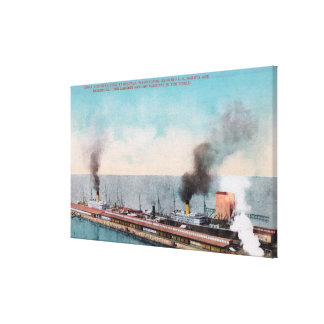 Great Northern Dock View, SS Dakota and Canvas Print