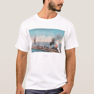 Great Northern Dock View, SS Dakota and T-Shirt